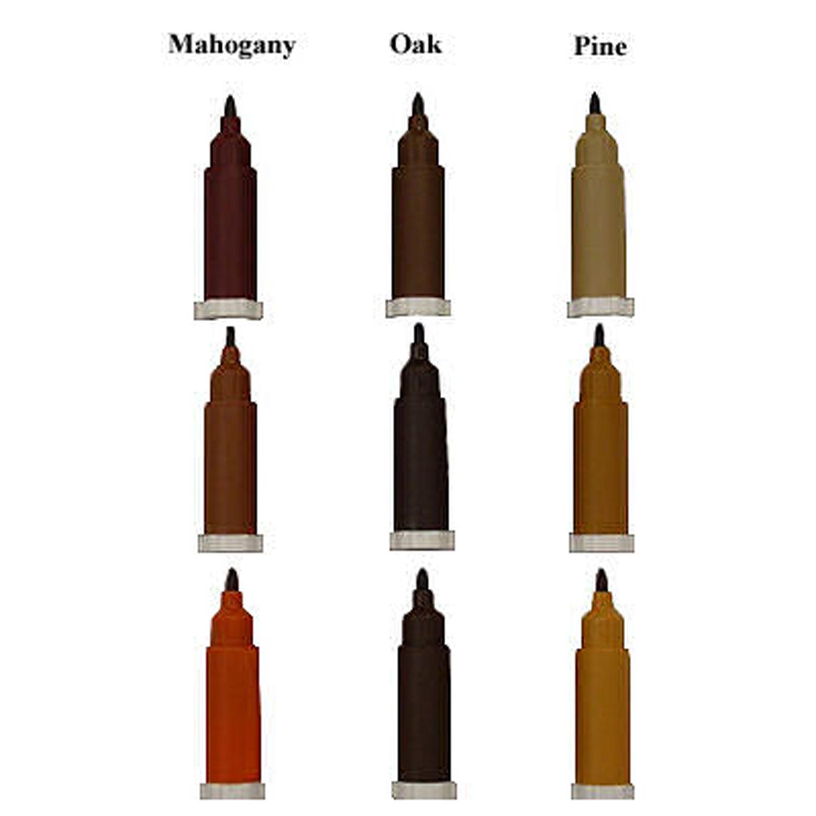 New Liberon 3 Part Wood Touch Up Pen Mahogany Oak Pine