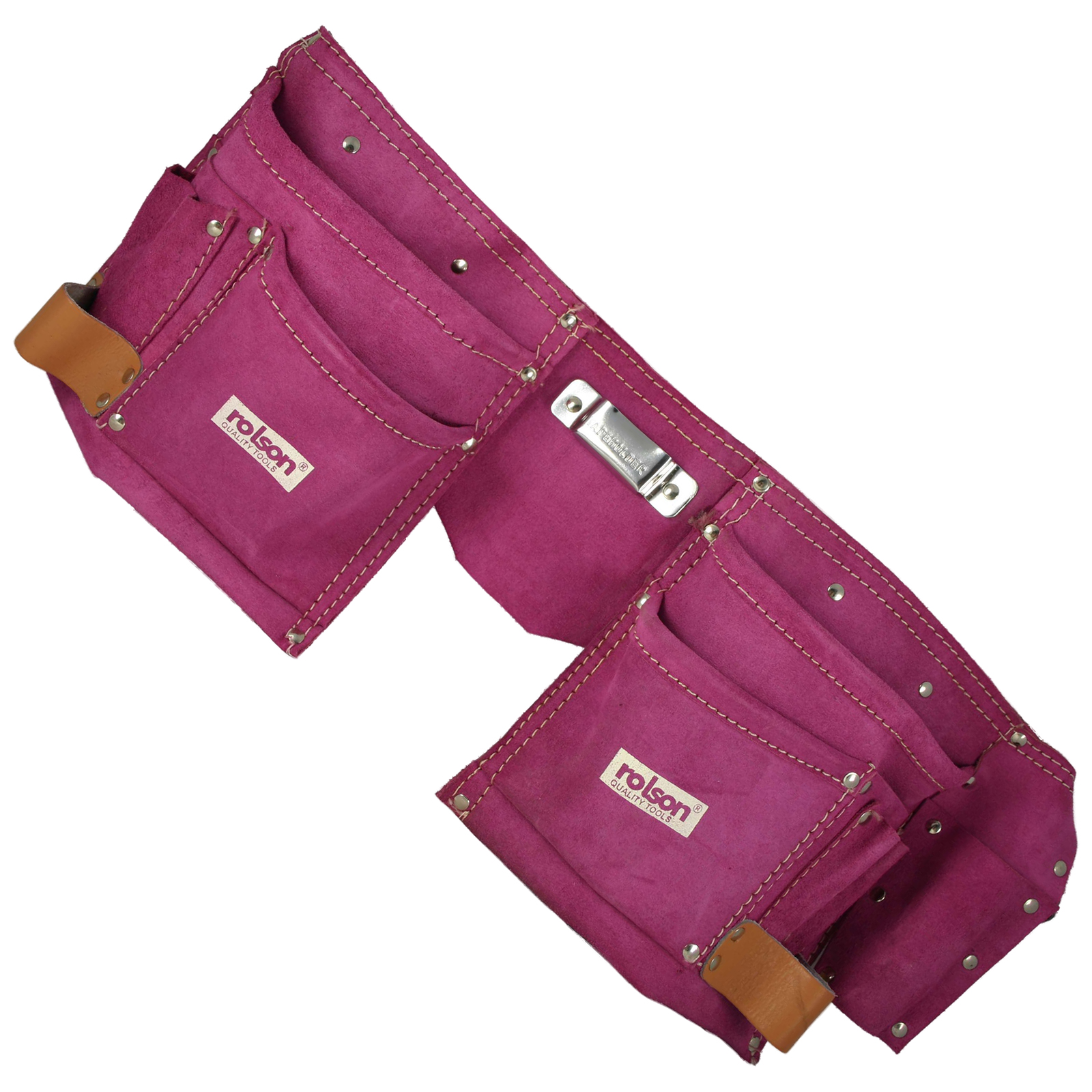 new rolson 68630 pink leather tool belt pouch
